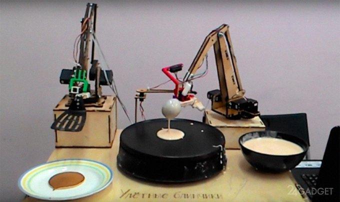 At ENEA robot making pancakes (video)