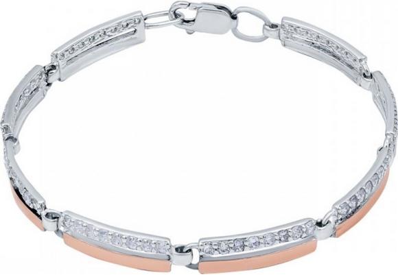 Незаменимый подарок маме на 8 марта – Браслет Akvamarin серебряный с золотыми пластинами 501Б-8