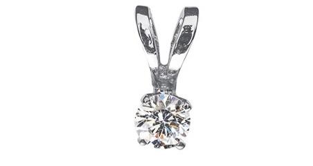 Незаменимый подарок маме на 8 марта – Кулон из белого золота с бриллиантом Княжна