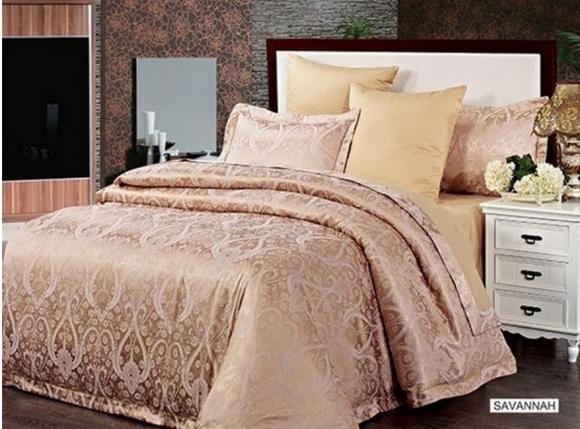 Незаменимый подарок маме на 8 марта – Комплект постельного белья Arya Серії Pure жаккард 2 Сп. Savannah