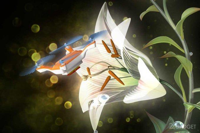 Японские ученые создают искусственных пчёл (3 фото + видео)