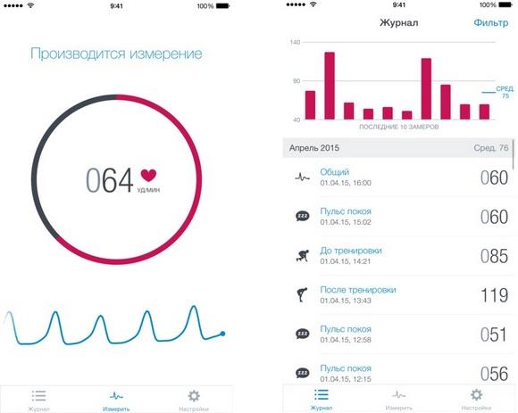 Топ-10 приложений для iOS и Android (13 - 19 февраля) - Runtastic Heart Rate PRO