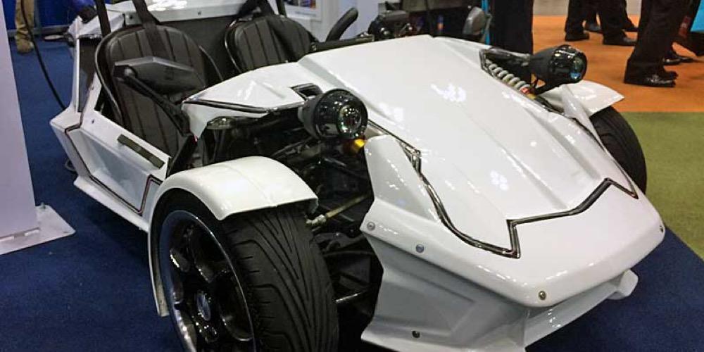 Toyota has introduced a miniature three-wheeled electric car