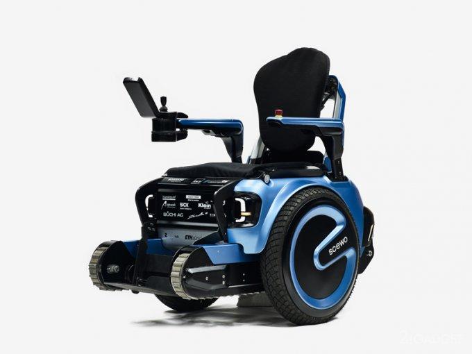 Новая инвалидная коляска умеет ездить по лестницам (9 фото + видео)