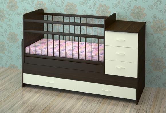 Как выбрать детскую кроватку – советы молодым родителям – Кровать-трансформер