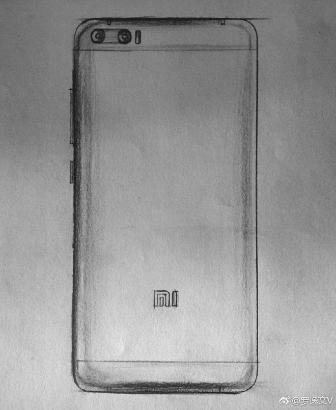 В сеть утекли эскизы Xiaomi Mi6
