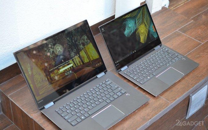 Laptops-turncoats Lenovo Yoga Yoga 720 and 520 (19 photos)