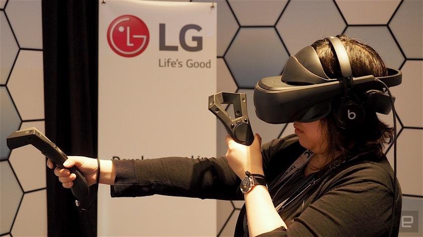 LG showed a virtual reality helmet for Steam VR