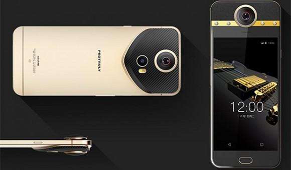 ProTruly Diamond is a unique VR-smartphone with 360-degree camera