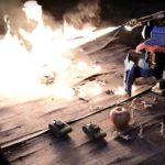 4823 Radio controlled hexapod robot-flamethrower (2 videos)