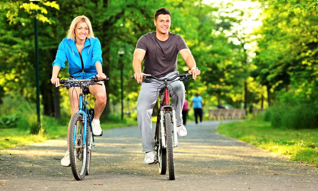 Велосипедная прогулка-фото