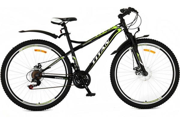Titan 29 дюймов Brabus черно-зеленый-велосипед
