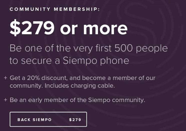 Siempo — смартфон, который будет отговаривать вас им пользоваться