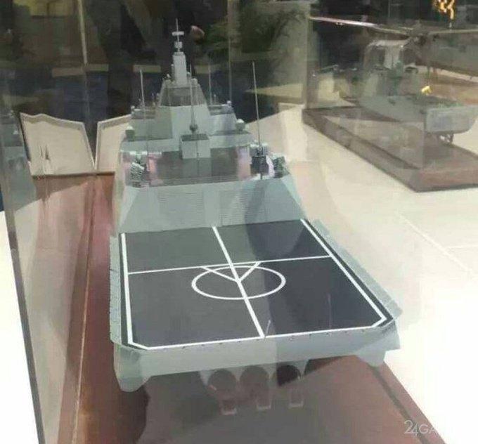 Корабль будущего из Китая с отдельной секцией для беспилотников (3 фото)