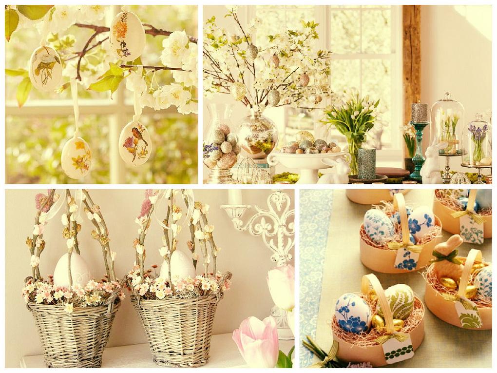 Весенний декор к Пасхе-коллаж