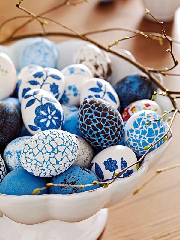 Пасхальные яйца в одной цветовой гамме-фото