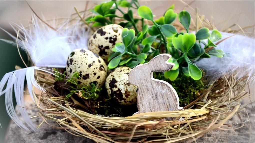 Пасхальное гнездо своими руками-фото