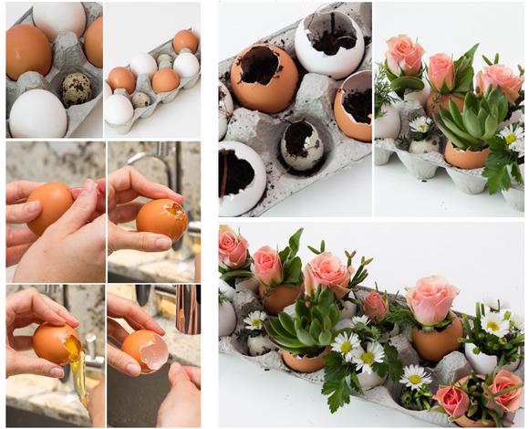 Мини-вазочка для цветов из скорлупы-подготовка яйца