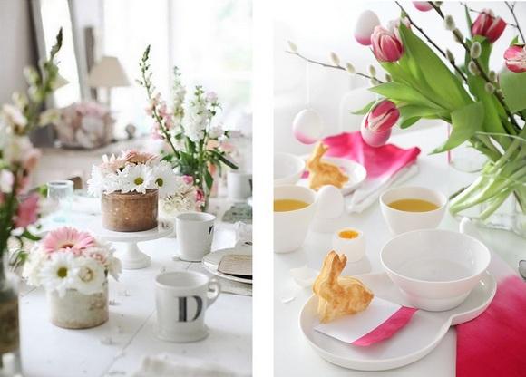 Цветы на пасхальном столе-фото 2