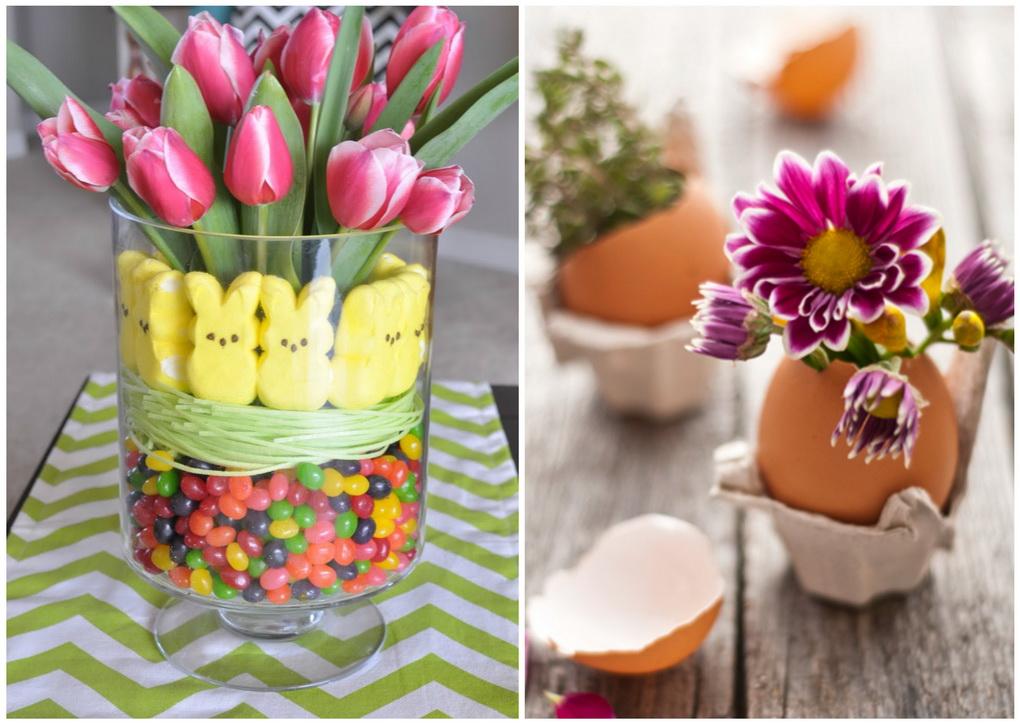 Весенний декор к Пасхе-живые цветы