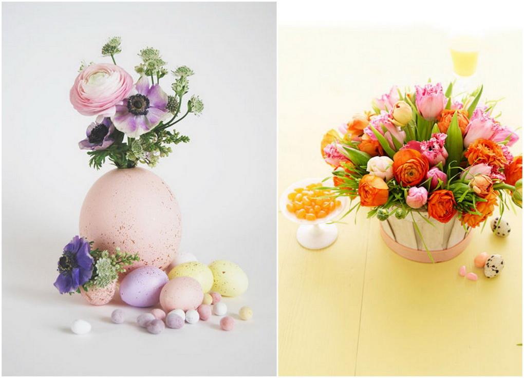 Весенний декор к Пасхе-живые цветы фото 2