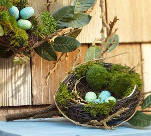 Пасхальное гнездо-своими руками