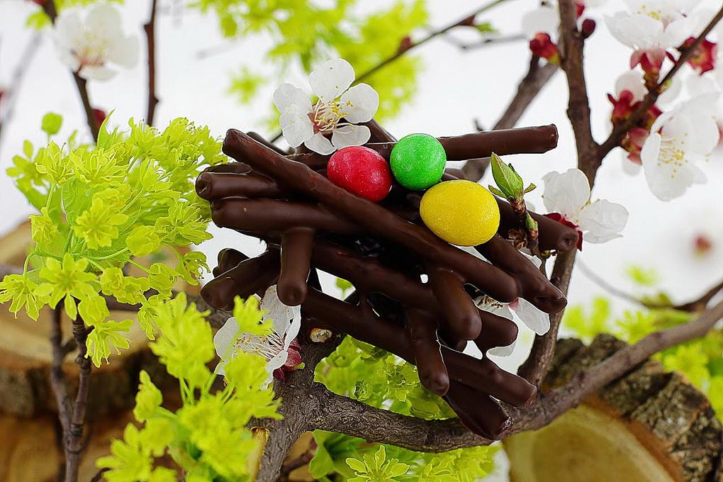 Пасхальные гнезда-десерт