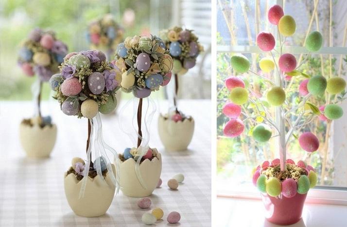 Пасхальное дерево на стол-праздничный декор