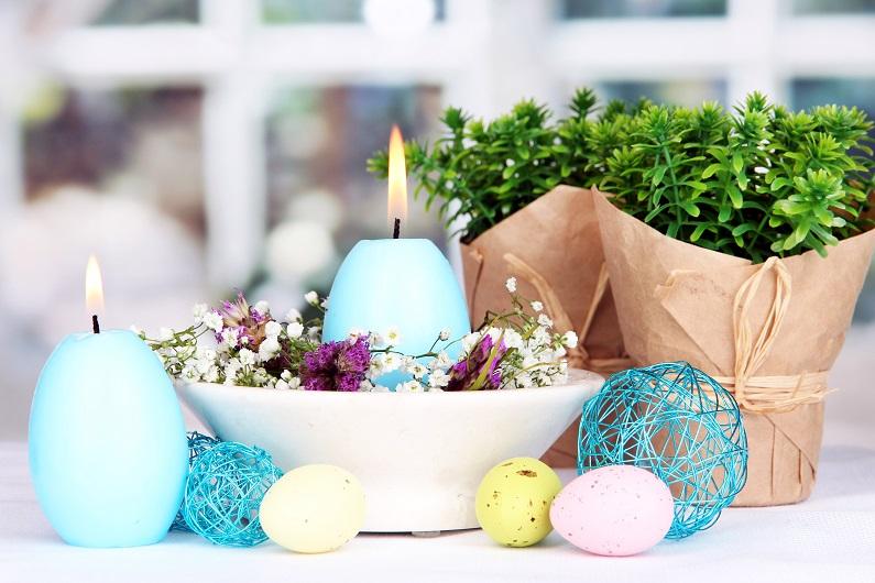 Пасхальные свечи-яйца