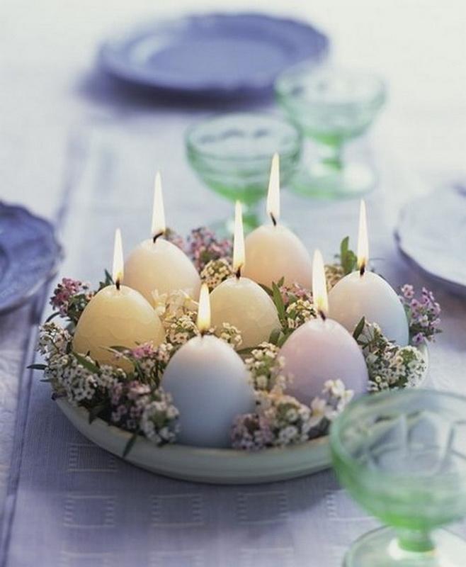 Свечи-пасхальные яйца