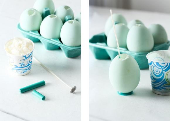 Пасхальные свечи-яйца-как сделать