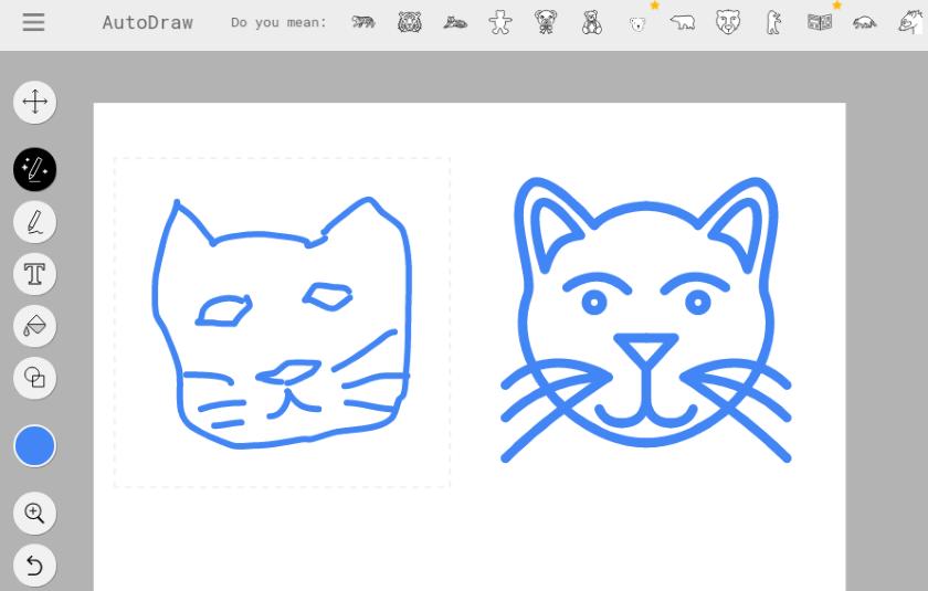 Google AutoDraw turns doodles into clip art