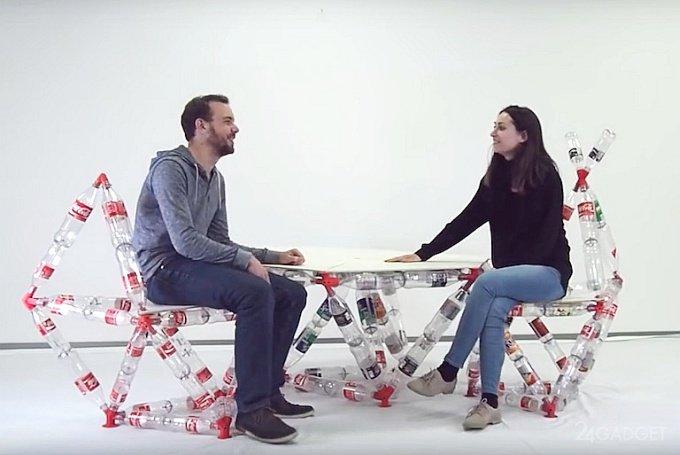 Designer of plastic bottles (6 photos + video)