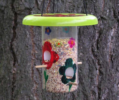 Кормушки для птиц в саду-вариант 6