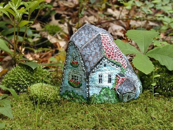 Наскальная живопись в миниатюре-идеи для сада