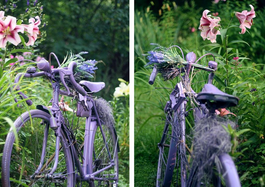 Старый велосипед-декор сада фото 3