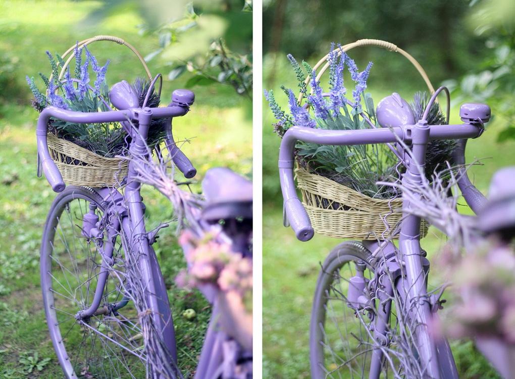 Старый велосипед-декор сада фото 2