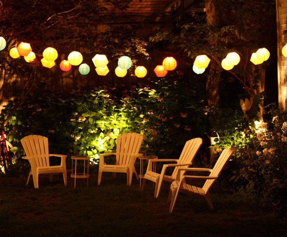 Декоративное освещение в зоне отдыха-идеи