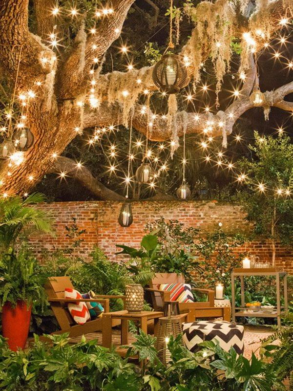 Гирлянды и фонари-освещение вашего сада