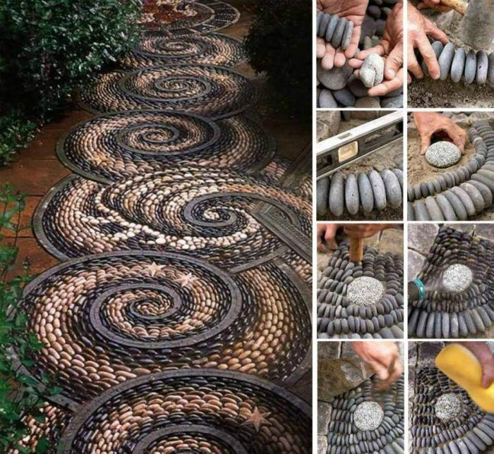 Мозаика в саду-фото
