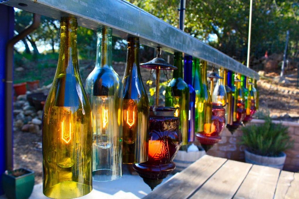 Оригинальные светильники своими руками-бутылки
