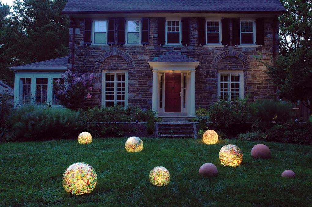 Светильники-шары-фото