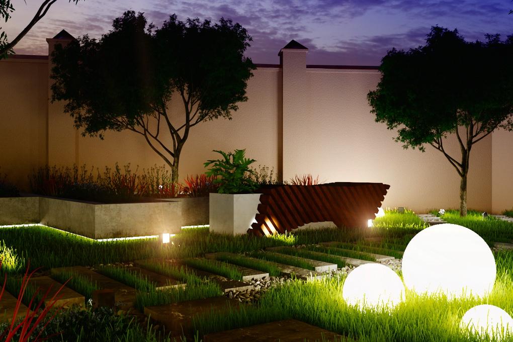 Круглые светодиодные светильники-для сада