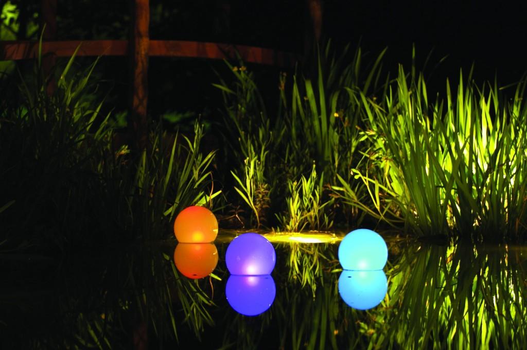 Цветной светодиодный светильник для сада-идеи