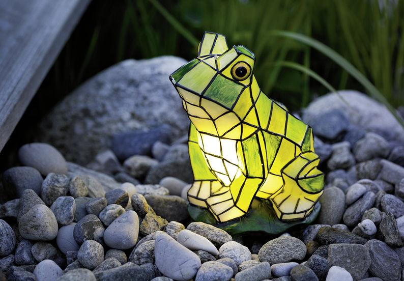 Оригинальные светильники для сада-лягушка