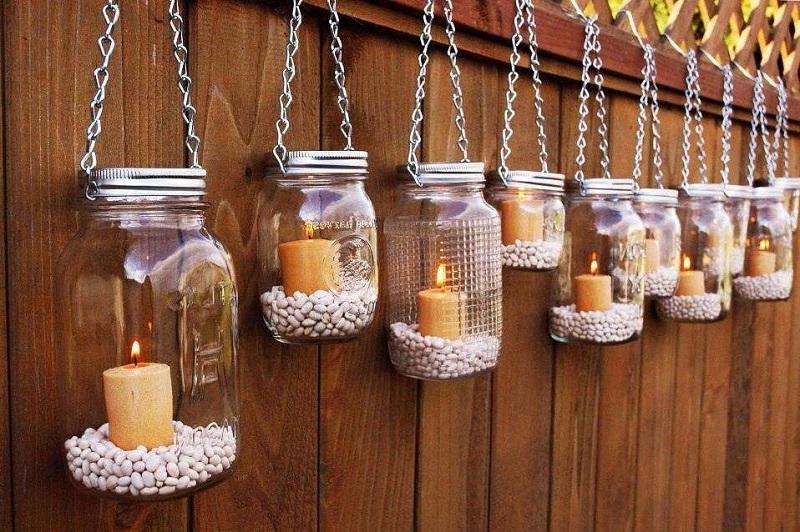 Свечи в саду-фото