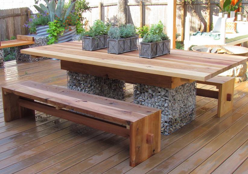 Современный сад-габионы фото 3