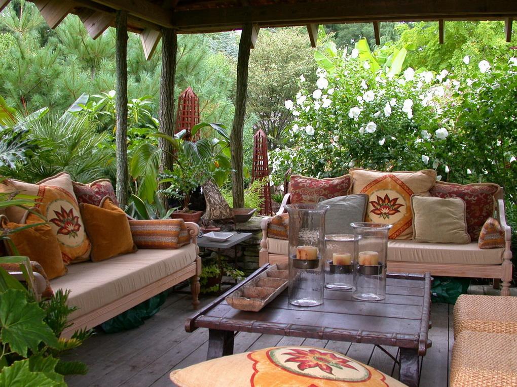 Текстиль-чем дополнить зону отдыха в саду