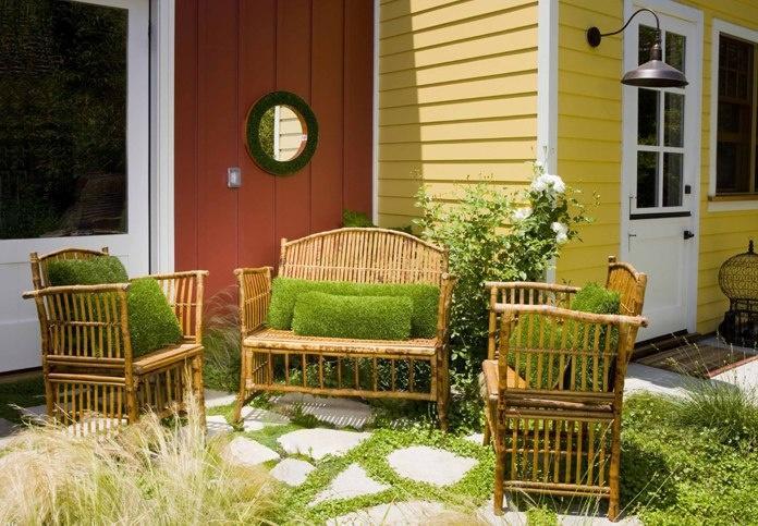Садовая мебель-имитация травы фото