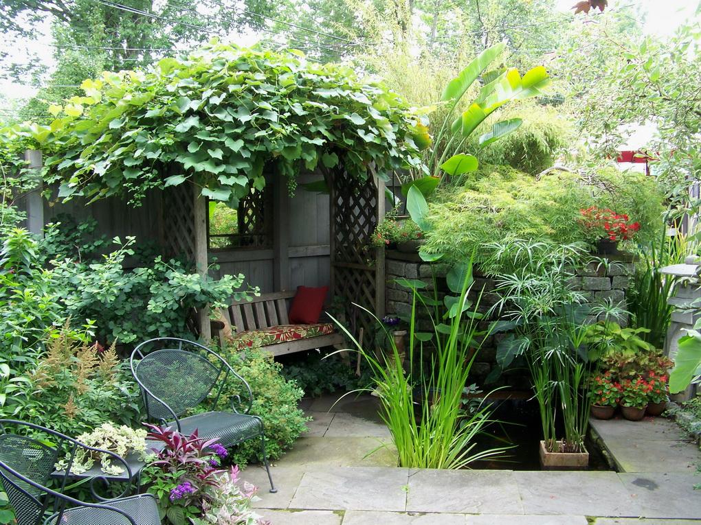Зона релакса в саду-фото 2